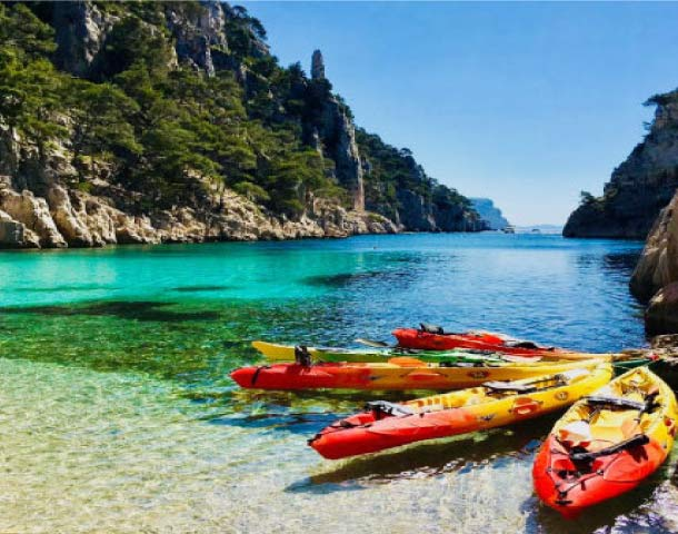 "alt=""kayaking trip in the calanques national park with calanques immersion"""