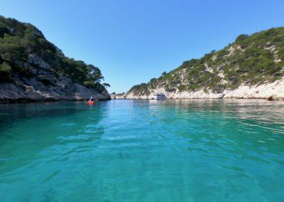 """alt=""""calanque de port-pin fond sableux calanques immersion kayak cassis marseille"""""""