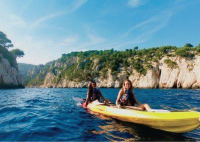 """alt=""""découverte des calanques de cassis et marseille en kayak calanques immersion"""