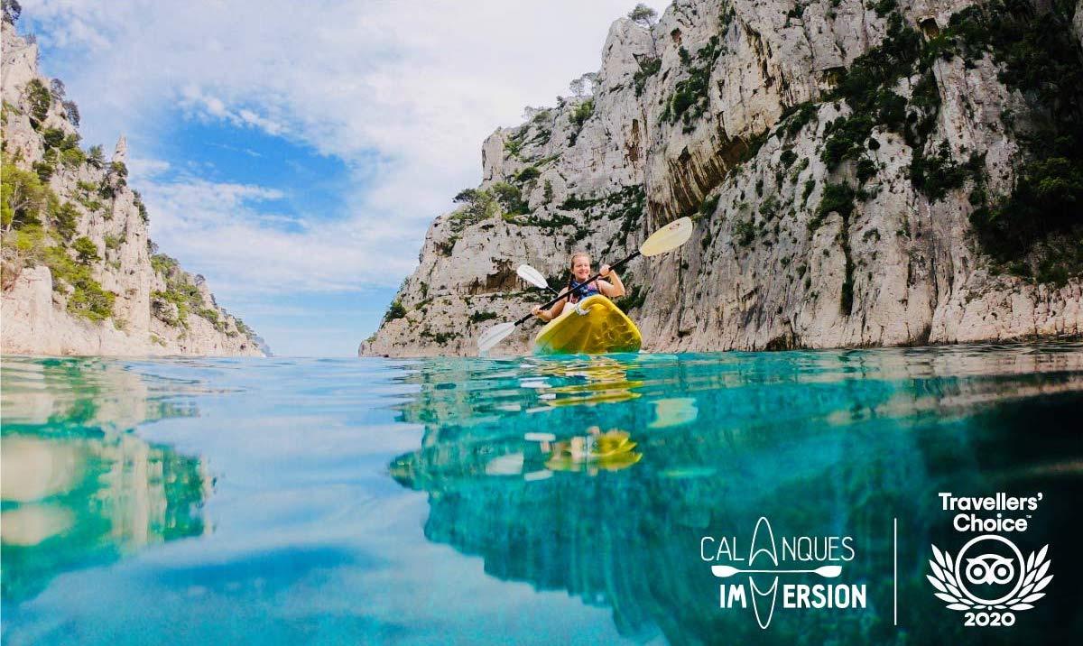 """alt=""""kajak cassis marseilles la ciotat calanques immersion ist ein gewinner der travellers choice"""""""